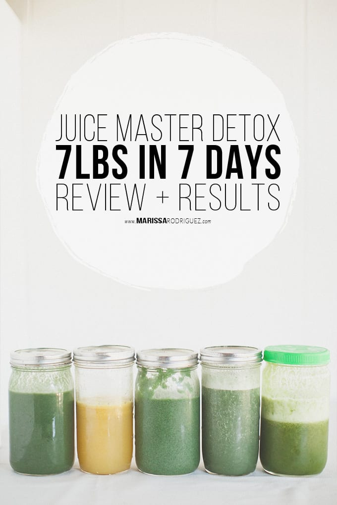 Juice Cleanse Review and Results- Jason Vale 7lbs in 7 days