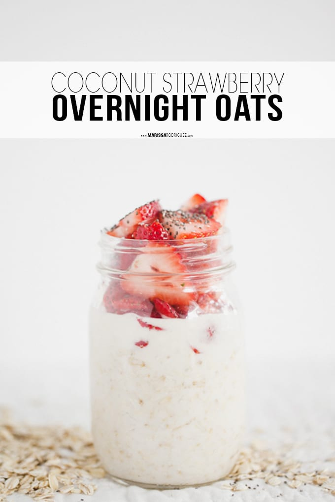 Overnight Oats- Strawberry Coconut