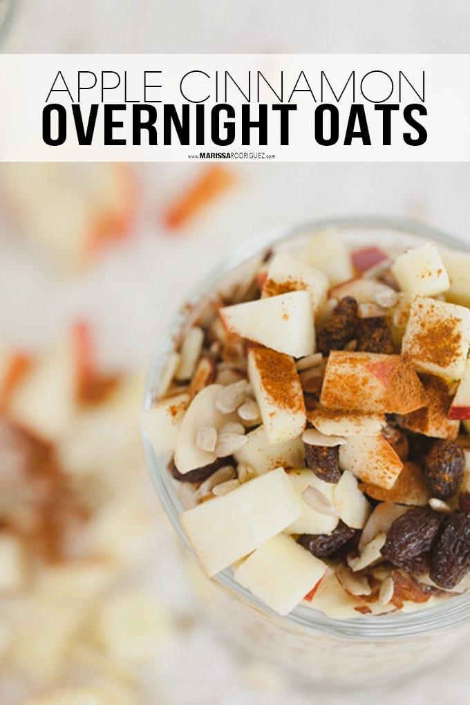 Apple Cinnamon Overnight Oats-Vegan