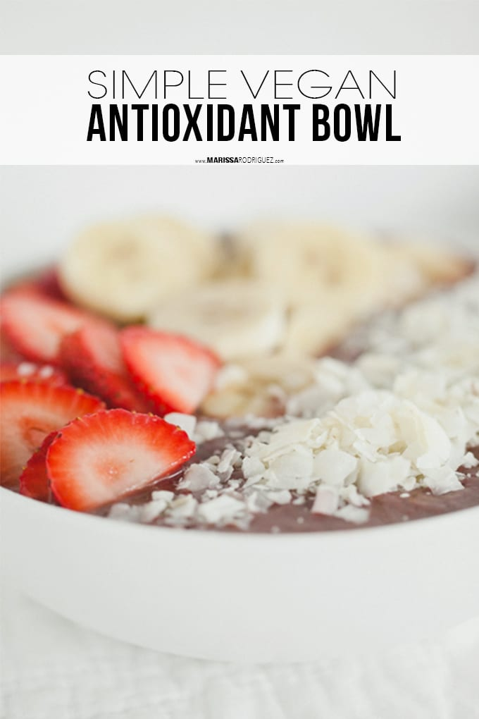 Acai Strawberry Banana Bowl