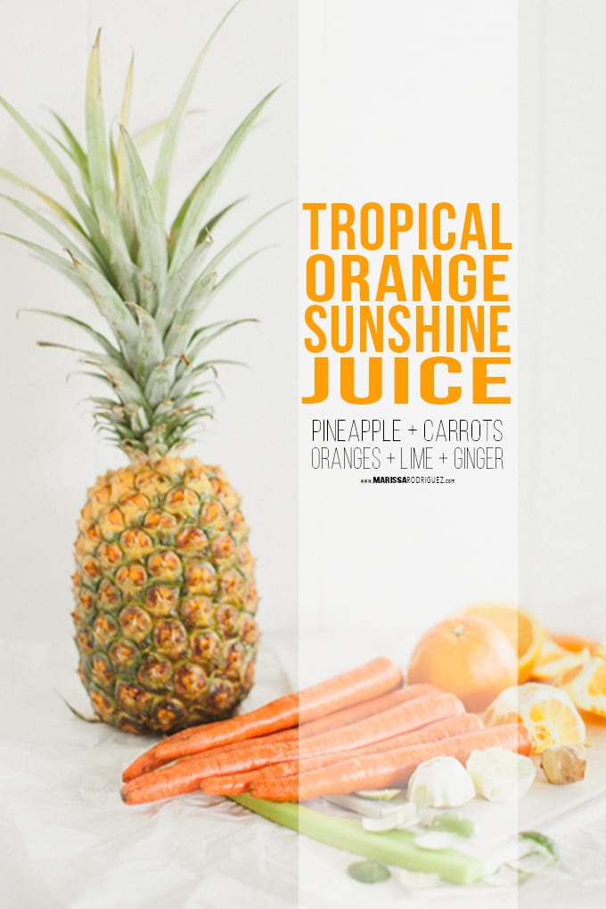 Sunshine Juice- pineapple carrot orange