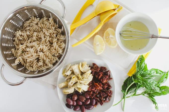 vegan mediterranean pasta salad