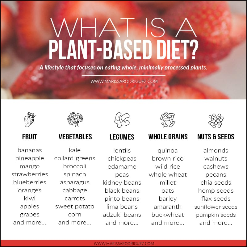 what is a plant based diet chart