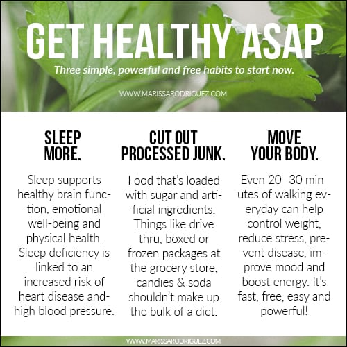 get healthy asap- easy and free
