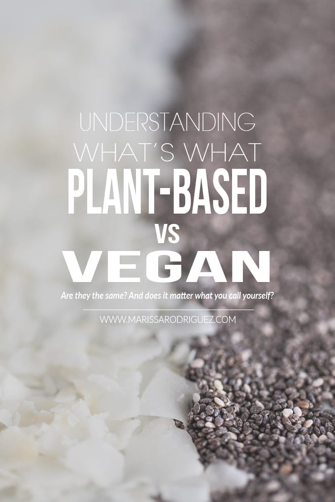 is plant-based the same as vegan?