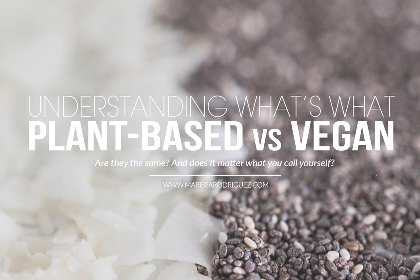 plant based vs vegan