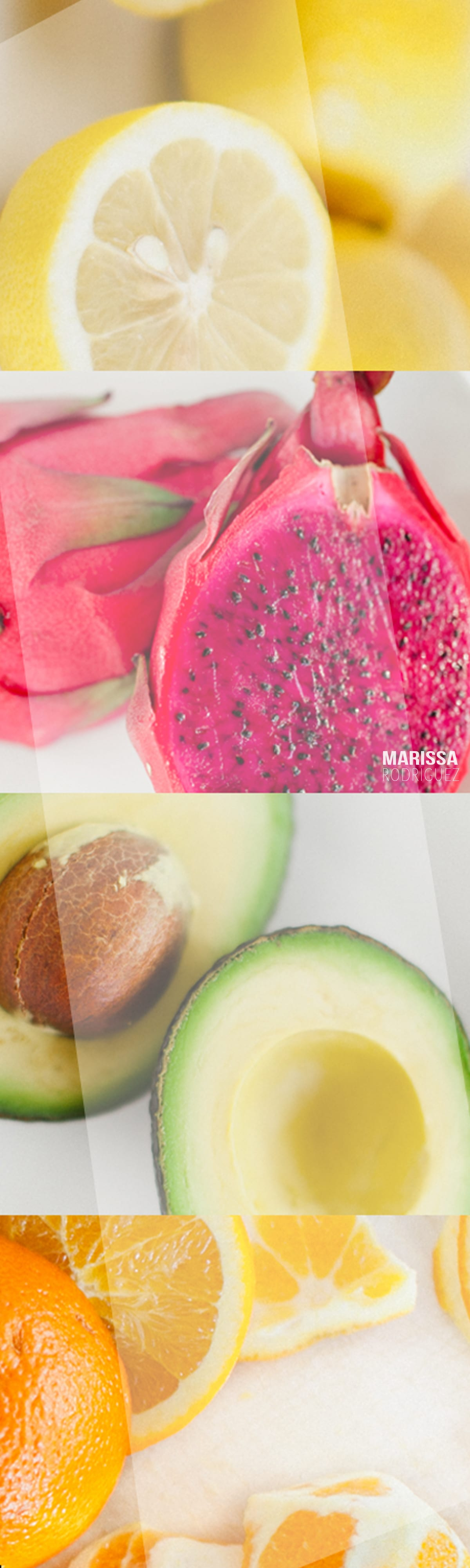bright summer colors-food inspiration-happy raw fruit