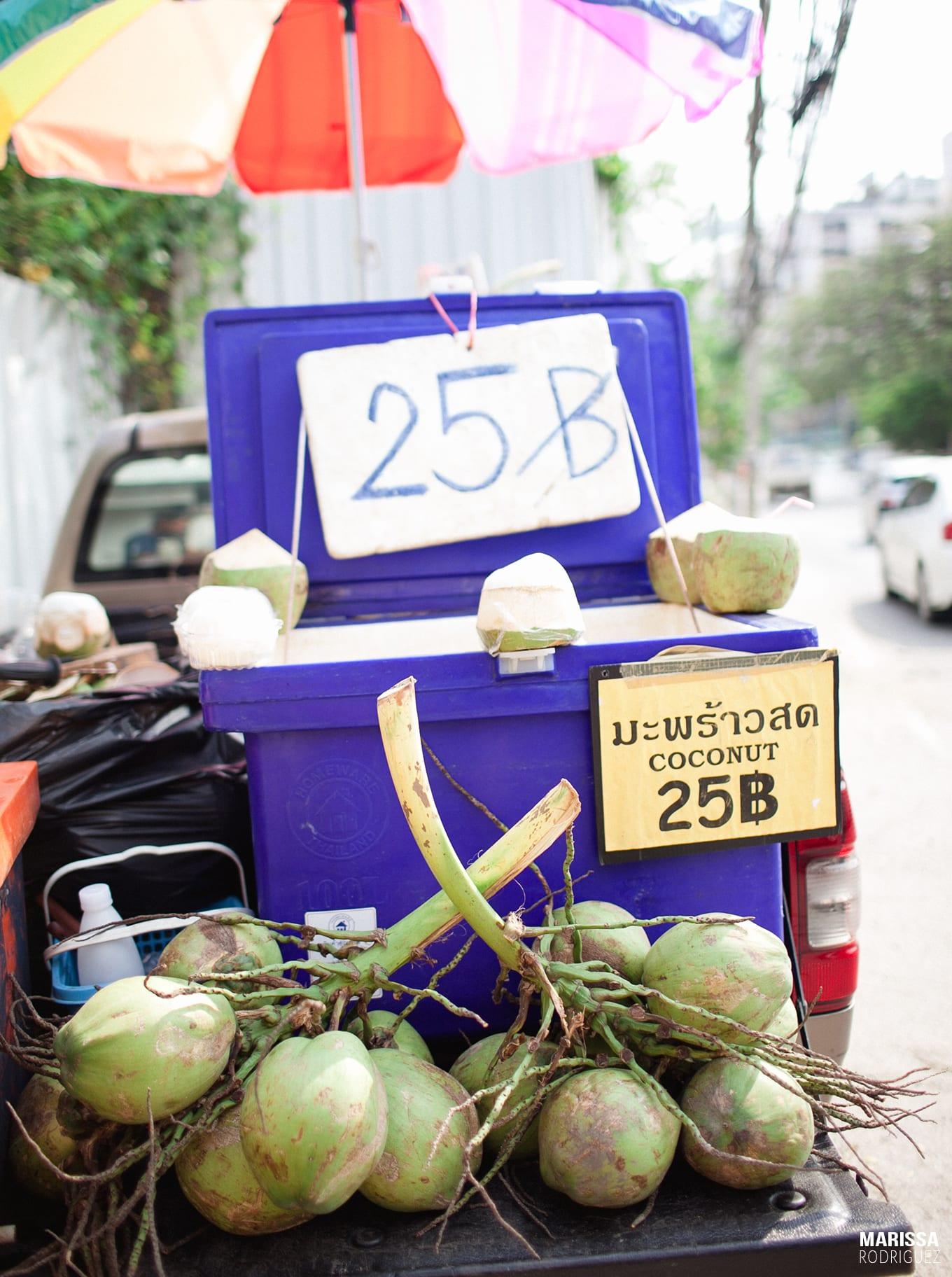 fresh coconuts chiang mai_thailand