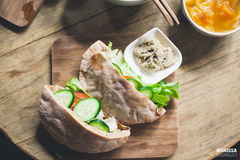 healthy hummus wraps_amrita garden_chiang mai
