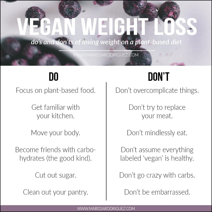 tips for vegan weight loss